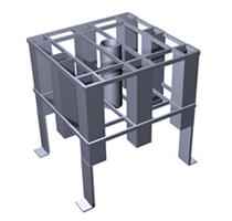 Elemento strutturale prefabbricato in cemento armato - Innesto di fondazione