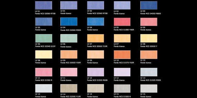 Finitura decorativa effetto vellutato - Linea Colors - LADY V.