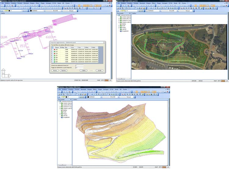 gestione dati topografici - MERIDIANA