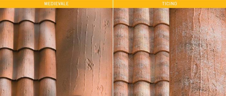 Tegole in cotto con profili ad S ad effetto coppi - Coppo SanMarco