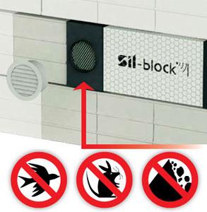 Silenziatore per fori di ventilazione sil block by silte - Ventilazione cucina ...