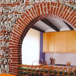 Rivestimento di facciata in pietra artificiale total panel - Mattoni da rivestimento interno ...