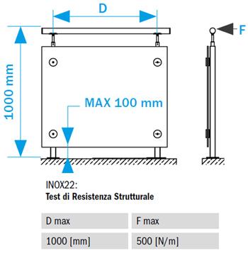 Ringhiera in acciaio inox  lucido - Railing INOX22