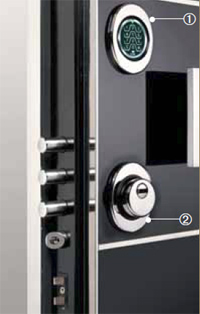 Porta blindata con serratura elettronica e antitrapano - SUPER HT