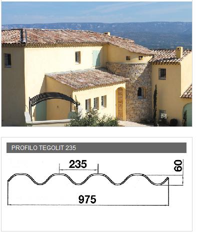 Lastra portacoppo in PVA cemento - TEGOLIT 235