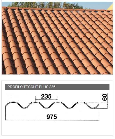 Lastra portacoppo in PVA cemento - TEGOLIT PLUS 235