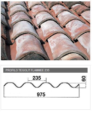 Lastra portacoppo in PVA cemento - TEGOLIT FLAMMEE 235