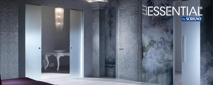 Porte Scorrevoli Roma : Porte scorrevoli e a battente filo parete essential by scrigno