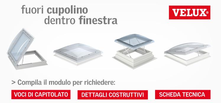 Finesta cupolino velux 4 soluzioni esterne stessa for Cupolino velux costo