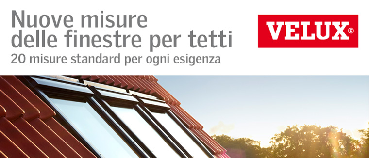 Dimensioni standard finestre fabulous materiali standard for Dimensioni standard velux