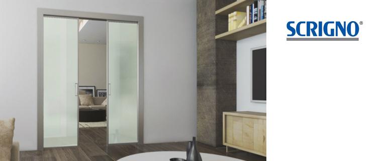 Porta scorrevole in vetro acqua by scrigno - Costo scrigno porta scorrevole ...