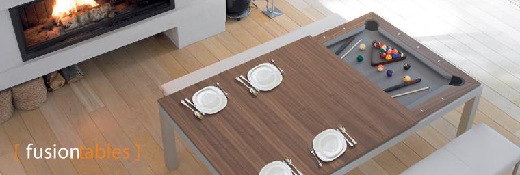 Tavolo da pranzo o da biliardo 2 in 1 fusiontables - Tavolo pranzo biliardo ...