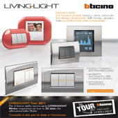 BTicino LivingLight: tre finiture di tasti, tre design di placche, tutto intercambiabile