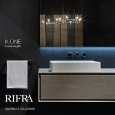 RI.FRA - MOBILI SRL - Oak and clay for bathroom: K.One by Rifra