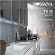 ROSSANA RB - Cucine lineari con isola, senza maniglie: Tk38 by Rossana