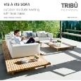 TRIB� - Outdoor modular seating with water-repellent cushionser: Vis � Vis Sofa Trib�