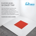 PONTE GIULIO - Customizable floor level shower tray by Ponte Giulio