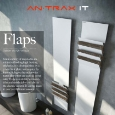 ANTRAX IT - Recyclable aluminium towel warmer Flaps by Antrax: just 3mm thick