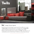 TWILS - Sectional furniture for the living area: Set by Twils