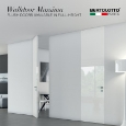 BERTOLOTTO PORTE - Flush doors in full-height: Walldoor Massima by Bertolotto