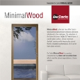 DE CARLO - Wood aluminum windows and French windows: MinimalWood by De Carlo
