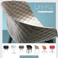 METALMOBIL - Metalmobil Polypropylene armchairs: Uni-Ka collection