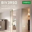 GAROFOLI - Reversible flush-wall door with push or pull opening