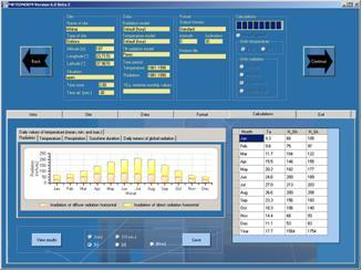 progettazione di impianti solari - METEONORM