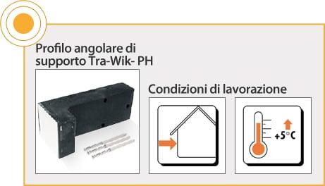 ELEMENTI DI FISSAGGIO RÖFIX - PROFILO ANGOLARE DI SUPPORTO TRA-WIK-PH