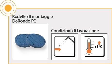 ELEMENTI DI FISSAGGIO RÖFIX - RONDELLE DI MONTAGGIO DORONDO PE