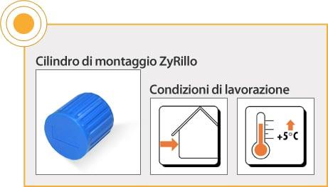 ELEMENTI DI FISSAGGIO RÖFIX - CILINDRO DI MONTAGGIO ZYRILLO