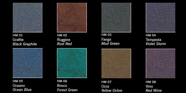 Finitura decorativa effetto metallico - Linea Colors - HEAVY METAL