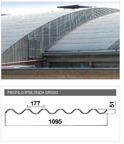 Lastra in PVA cemento per coperture - IPSILONDA grigio