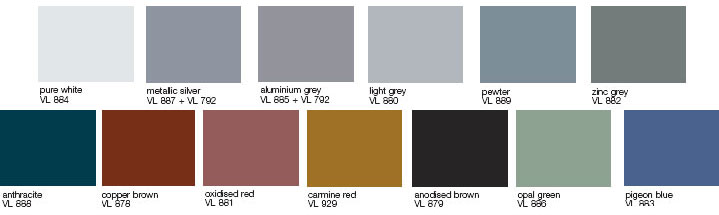 Alluminio laminato verniciato per coperture dfalz otefal for Colore bianco perla per pareti
