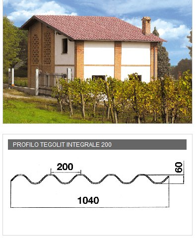 Lastra portacoppo in PVA cemento - TEGOLIT INTEGRALE 200