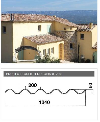 Lastra portacoppo in PVA cemento  - TEGOLIT TERRECHIARE 200